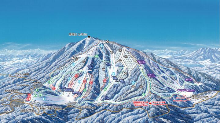 斑尾高原スキー場マップ